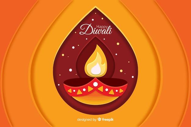 Diseño plano de venta de diwali con gradiente