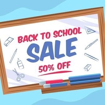 Diseño plano de ventas de regreso a la escuela