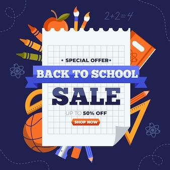 Diseño plano ventas de regreso a la escuela.