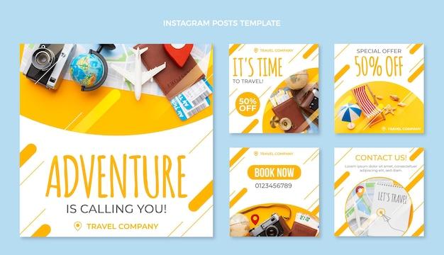 Diseño plano viajes ig post viajes ig post