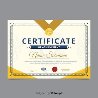 Diseño de plantilla abstracta de certificado