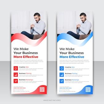 Diseño de plantilla de banner acumulativo de agencia de negocios corporativos