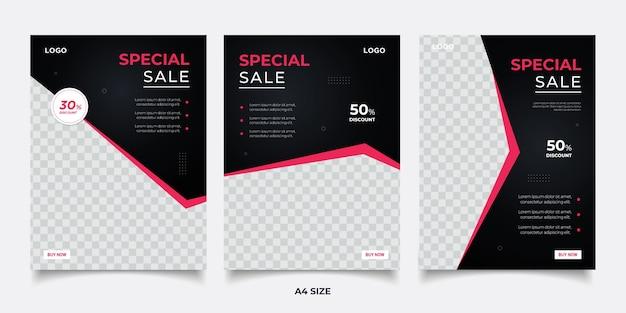 Diseño de plantilla de banner de concepto de venta especial. diseño de promoción abstracta de descuento