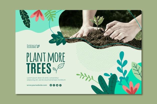 Diseño de plantilla de banner de medio ambiente