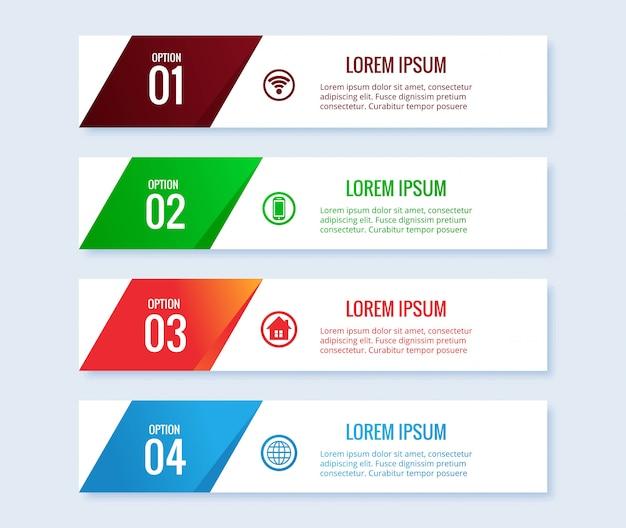 Diseño de plantilla de banner de negocios de infografía