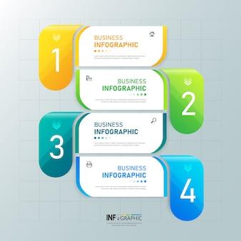 Diseño de plantilla de banner de negocios de infografía.