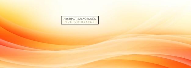 Diseño de plantilla de banner de onda abstracta