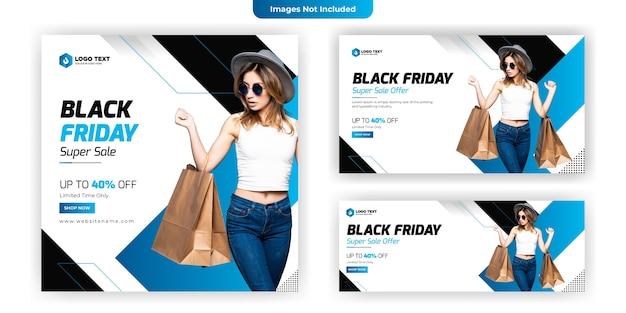 Diseño de plantilla de banner de redes sociales de viernes negro