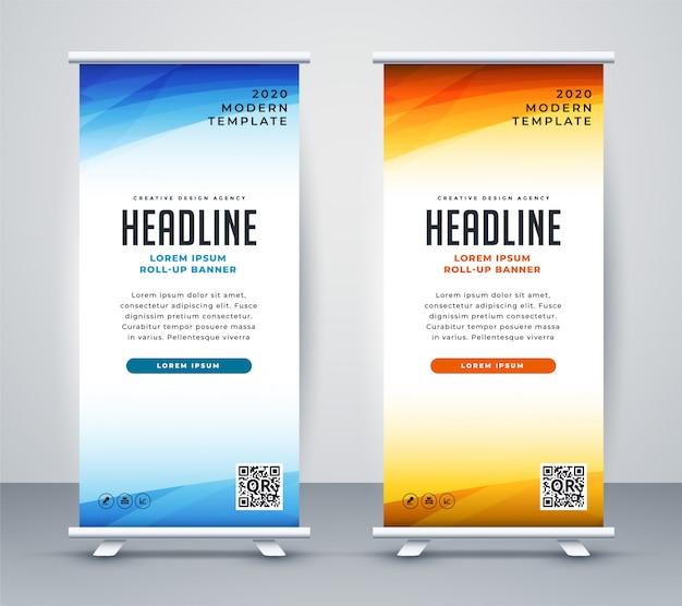 Diseño de plantilla de banner de soporte enrollable profesional