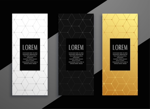 Diseño de plantilla de banner de tarjeta de menú vertical premium