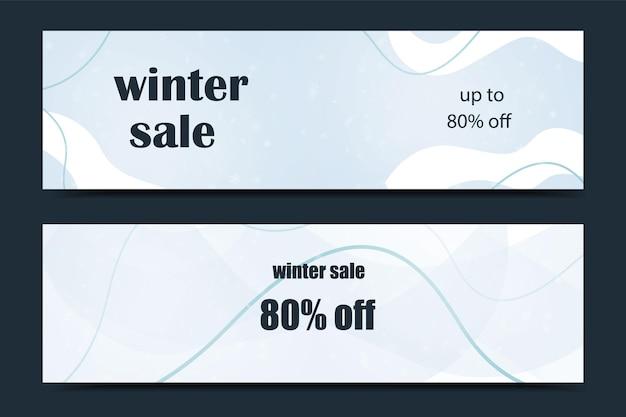 Diseño de plantilla de banner de venta, banner de invierno. oferta especial de gran venta. ilustración vectorial