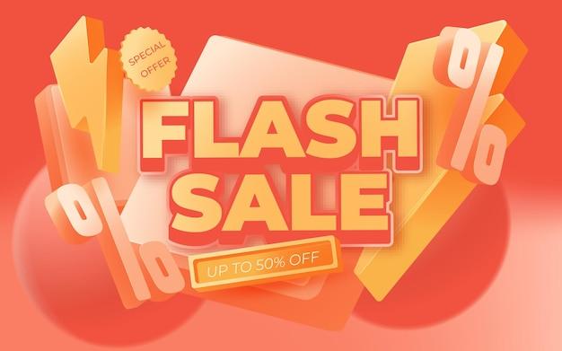 Diseño de plantilla de banner de venta flash.ilustración de vector.