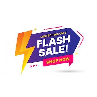 Diseño de plantilla de banner de venta flash, oferta especial de gran venta. banner de oferta especial de fin de temporada. elemento gráfico de promoción abstracta