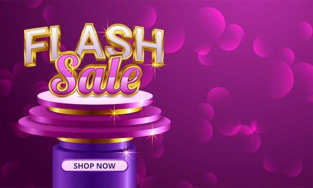 Diseño de plantilla de banner de venta flash
