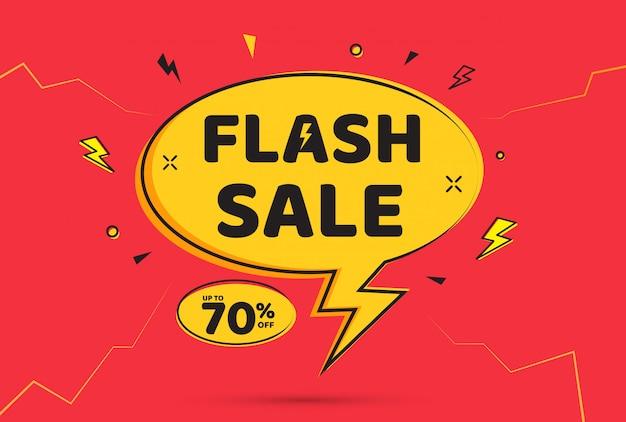 Diseño de plantilla de banner de venta flash.