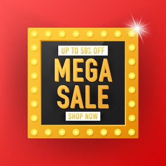 Diseño de plantilla de banner de venta, oferta especial de gran venta. diseño de plantilla de banner de venta, oferta especial de mega venta