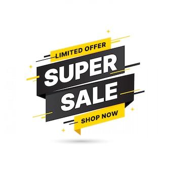 Diseño de plantilla de banner de venta de super oferta, oferta especial de gran venta. banner de oferta especial de fin de temporada. elemento gráfico de promoción abstracta.