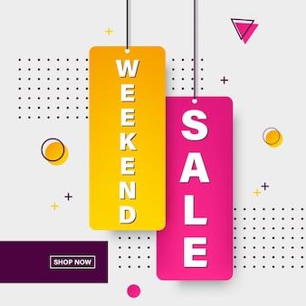 Diseño de plantilla de banner de venta para web.