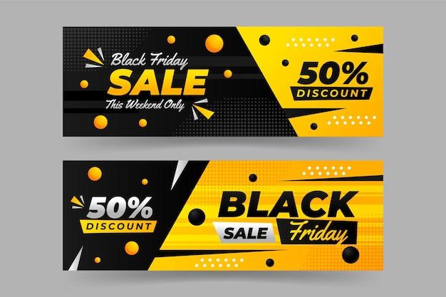 Diseño de plantilla de banner de viernes negro
