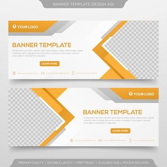 Diseño de plantilla de banner web