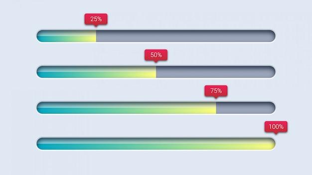 Diseño de plantilla de barra de carga de progreso