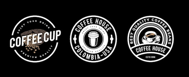 Diseño de plantilla de café para logo, insignia.