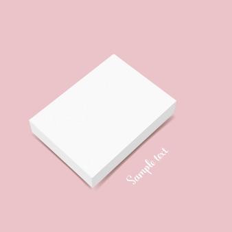 Diseño de plantilla de caja en blanco