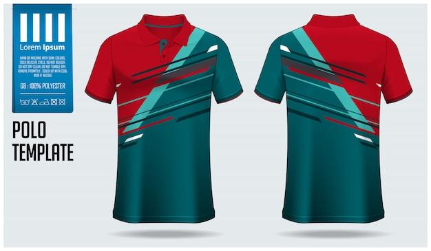 Diseño de plantilla de camisa de polo.