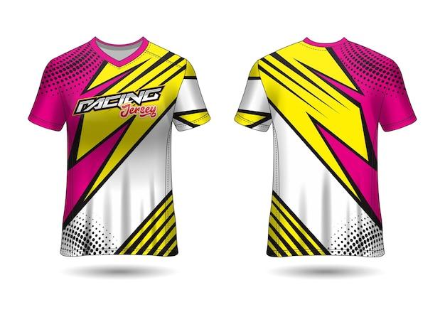 Diseño de plantilla de camiseta de carreras