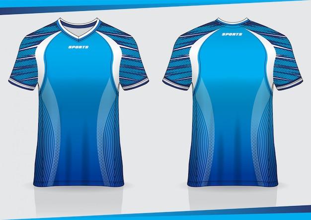 Diseño de plantilla de camiseta de fútbol deportivo camiseta
