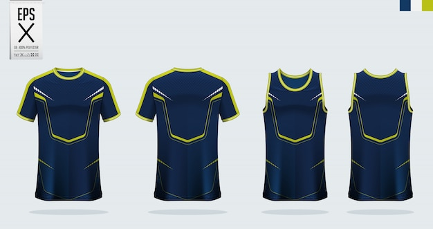 Diseño de plantilla de camiseta de fútbol o deporte