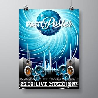 Diseño de plantilla de cartel de fiesta