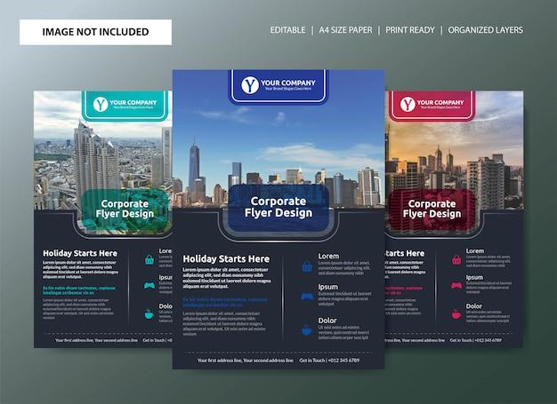 Diseño de plantilla de cartel de folleto de negocio corporativo