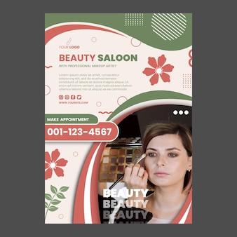 Diseño de plantilla de cartel de salón de belleza