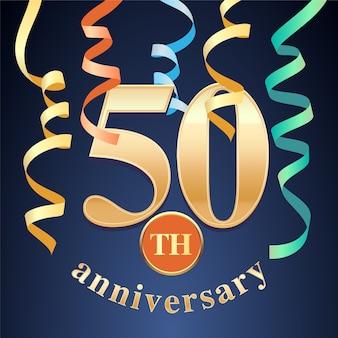 Diseño de plantilla de celebración de aniversario de 50 años
