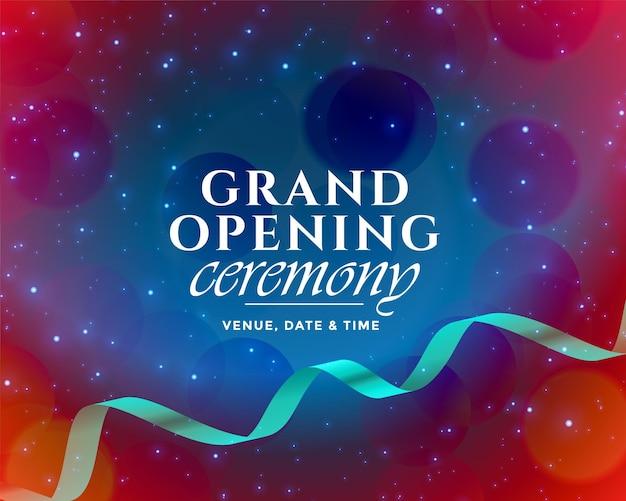Diseño de plantilla de ceremonia de inauguración