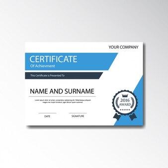 Diseño de plantilla de certificado