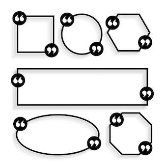 Diseño de plantilla de citas geométricas de estilo de línea
