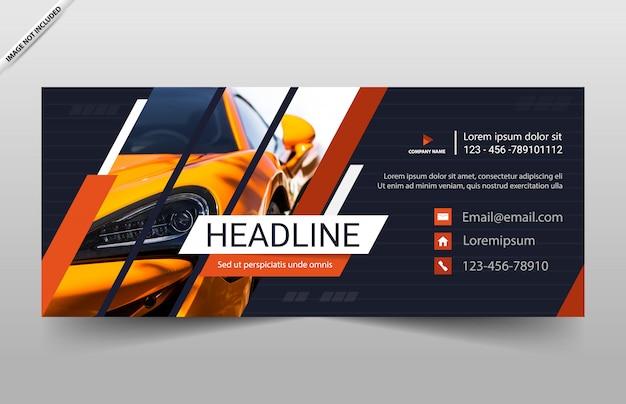 Diseño de plantilla de coche automóvil banner
