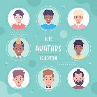 Diseño de plantilla de colección de avatar de personas