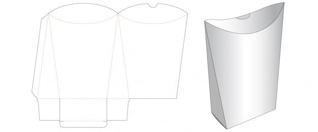 Diseño de plantilla de corte de empaque de merienda