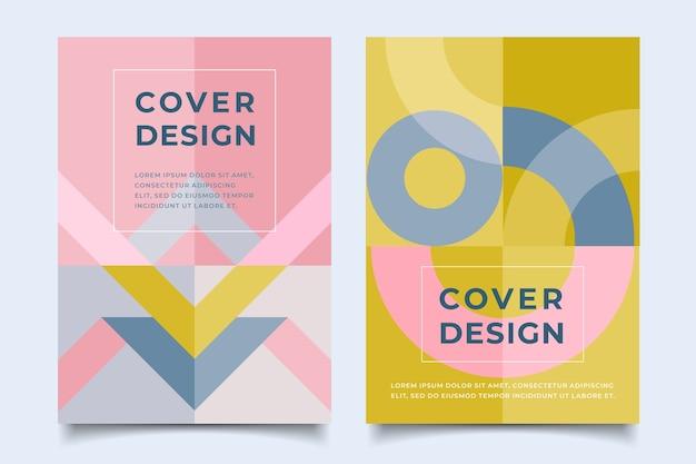 Diseño de plantilla de cubiertas coloridas abstractas