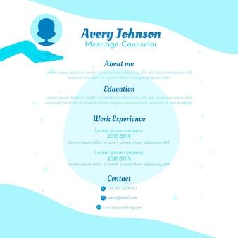 Diseño de plantilla de currículum en línea