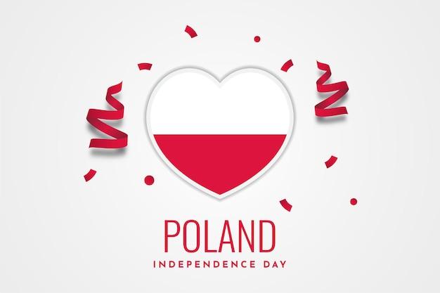 Diseño de plantilla del día nacional de la independencia de polonia
