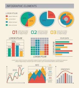 Diseño de plantilla de diagramas de negocios