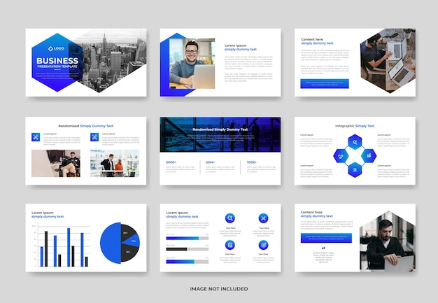 Diseño de plantilla de diapositiva de presentación de powerpoint de negocios creativos