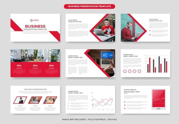 Diseño de plantilla de diapositiva de presentación de powerpoint de negocios