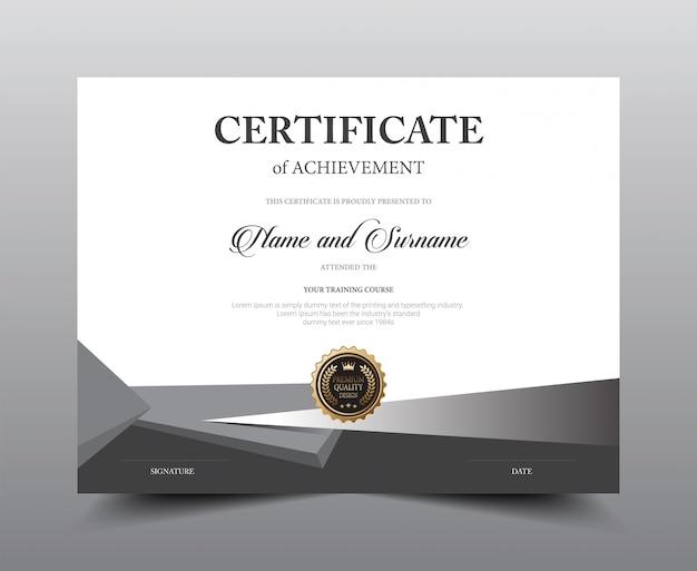 Diseño de plantilla de diseño de certificado.
