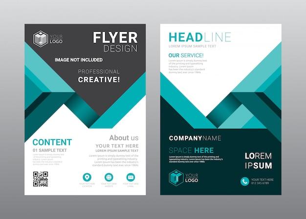 Diseño de plantilla de diseño de portada de folleto de negocios.