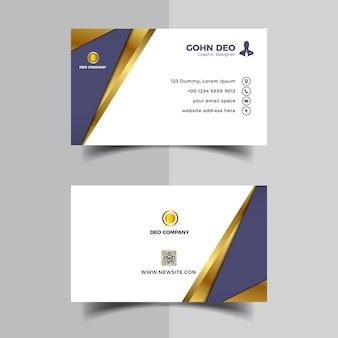 Diseño de plantilla de diseño de tarjeta de visita moderna